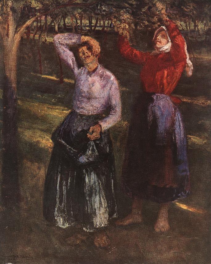Picking Plums 1901   Karoly Kernstok   oil painting