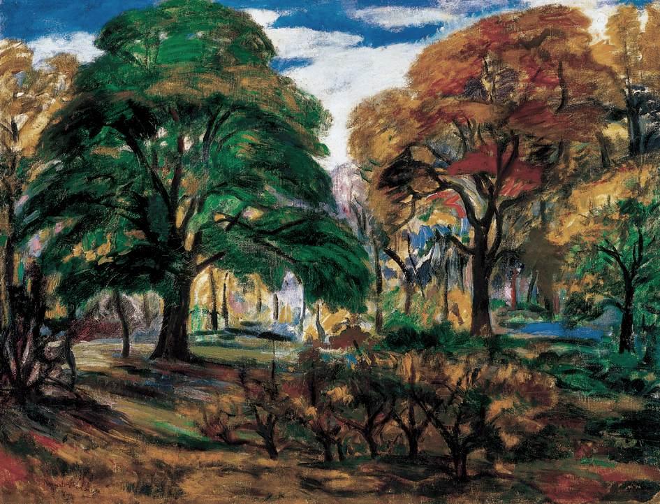 Park 1910   Karoly Kernstok   oil painting