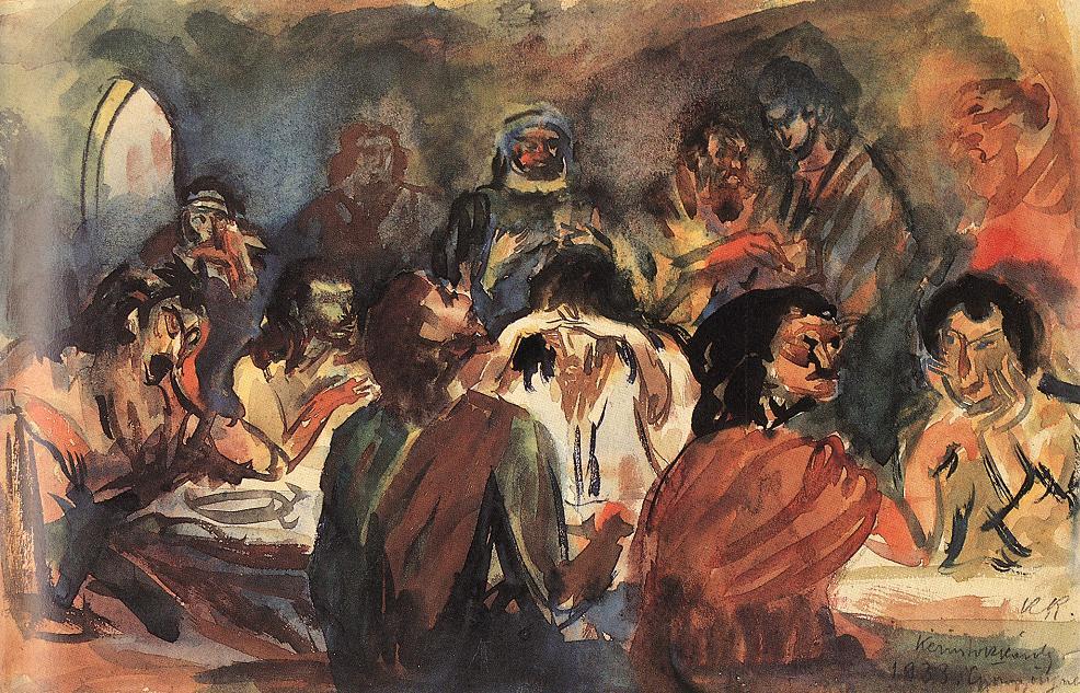 Last Supper 1921   Karoly Kernstok   oil painting