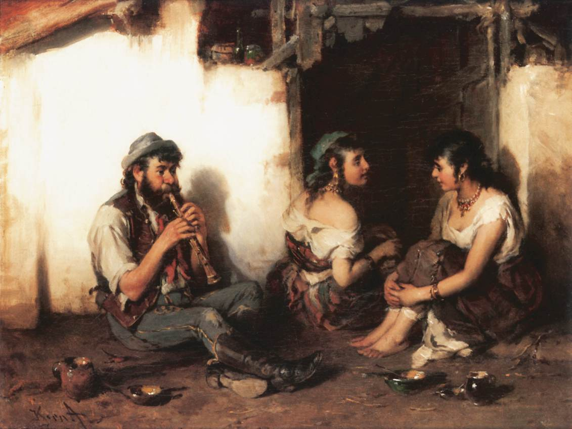 Piping | Armin Hermann Kern | oil painting