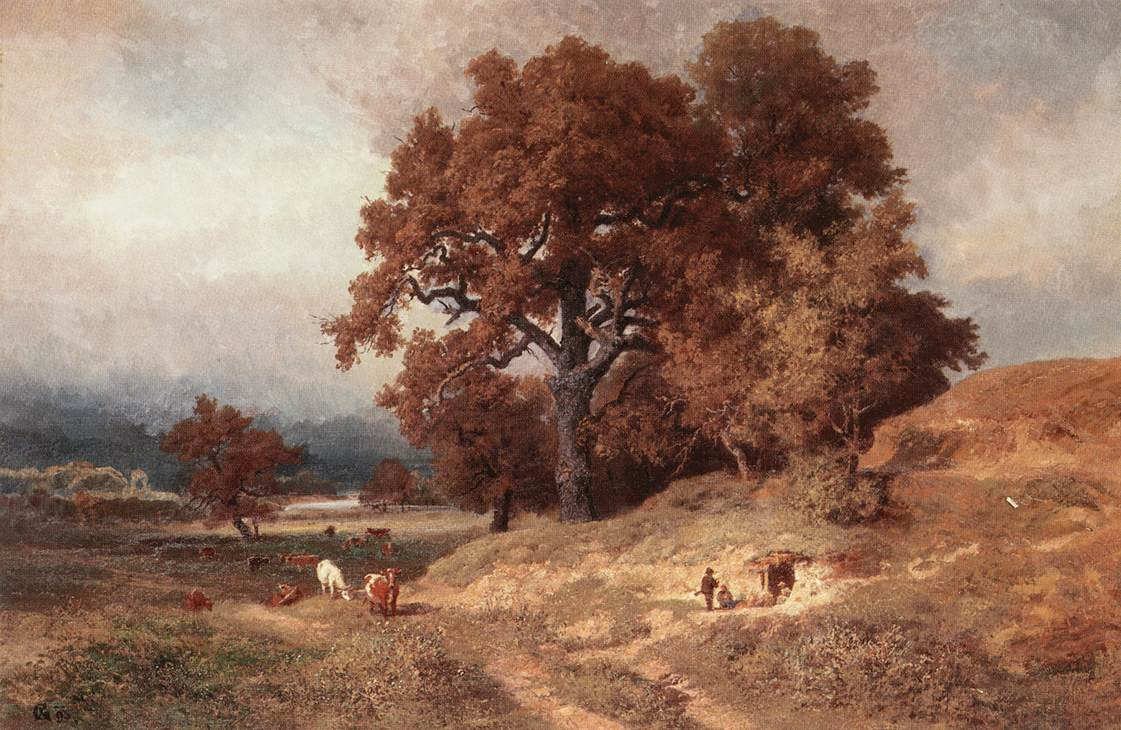 Forest Clearing 1895 | Gusztaw Keleti | oil painting