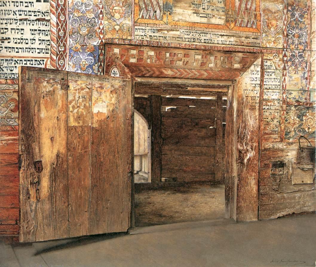Portal of the Rabbi 1898   Izidor Kaufmann   oil painting