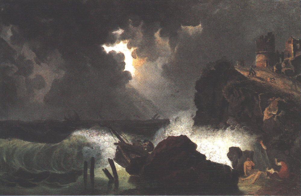 Maritime Peril 1820s | Kisfaludy Karoly | oil painting
