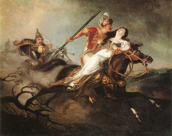 King Laszlo in the Battle at Cserhalom 1826 30 | Kisfaludy Karoly | oil painting