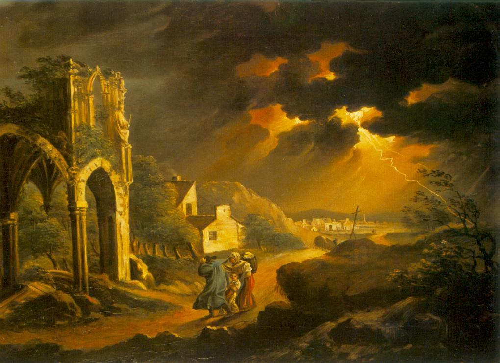 Storm at Night 1820s | Kisfaludy Karoly | oil painting