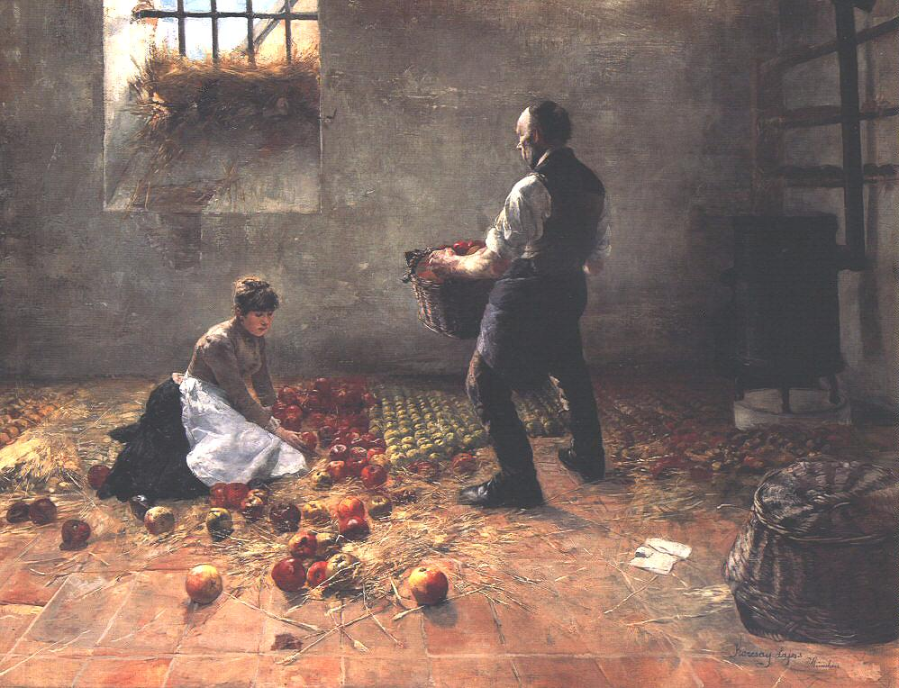 Gathering Apples 1885 | Lajos Karcsay | oil painting