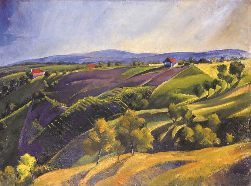 Landscape 1932 | Andor Kantor | oil painting