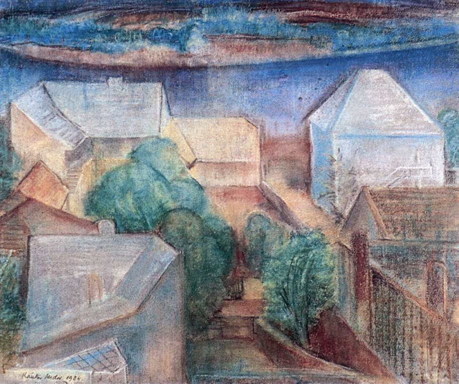 Roofs in Light 1934 | Andor Kantor | oil painting