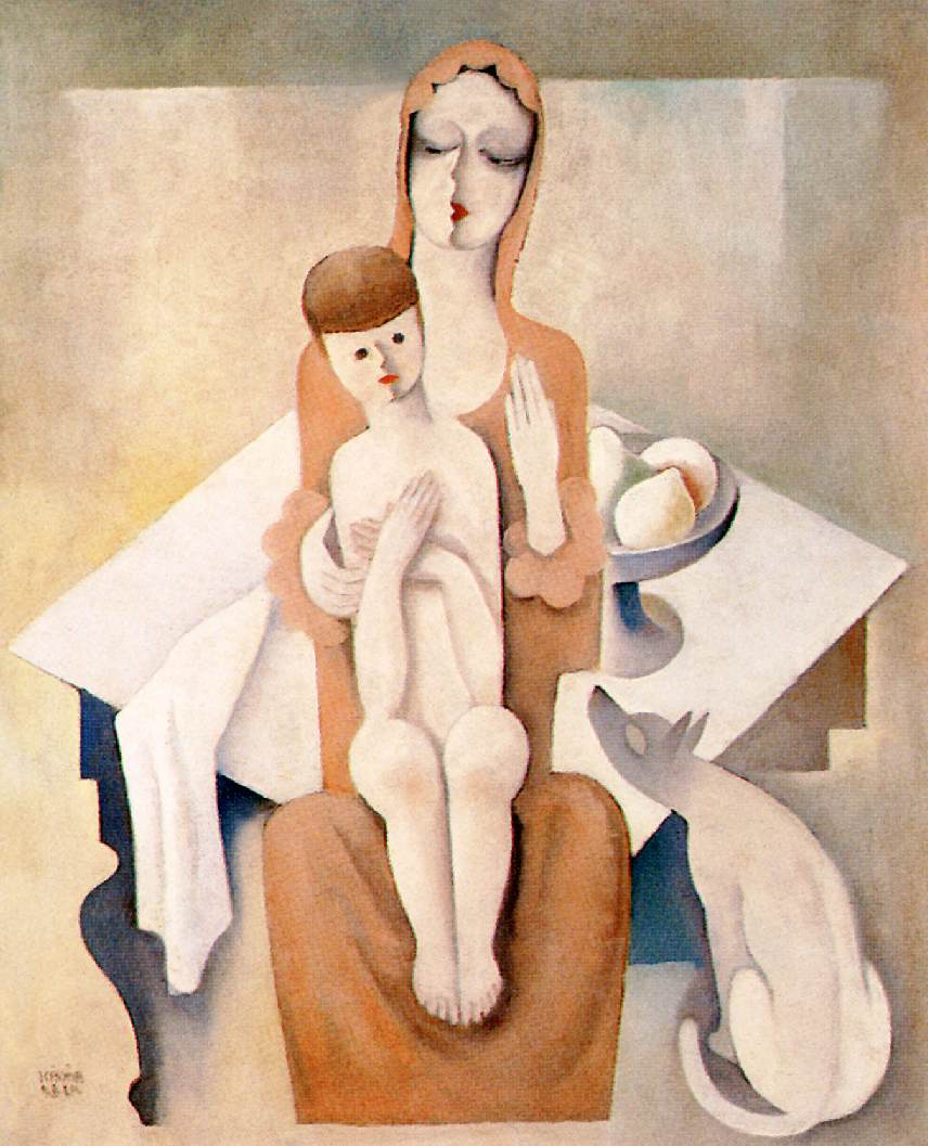 Mother with Child 1930 2 | Bela Kadar | oil painting