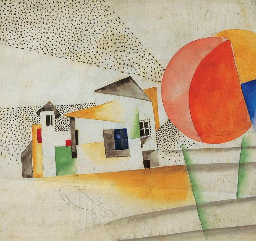 Dissolving Houses 1920s | Bela Kadar | oil painting