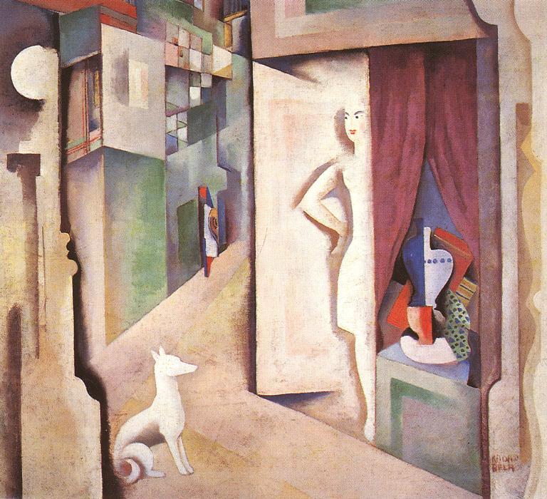 Constructive Town 1925 | Bela Kadar | oil painting