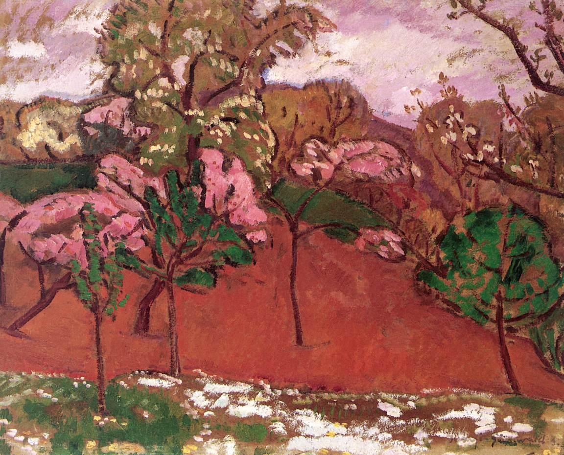 Springtime Landscape 1910   Bela Grunwald Ivanyi   oil painting