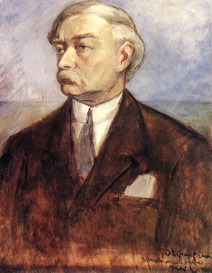 Self-portrait   Bela Grunwald Ivanyi   oil painting