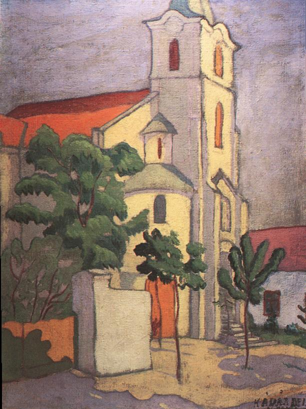 Church at Nagybanya 1910 | Bela Kadar | oil painting
