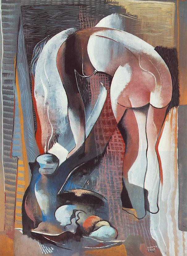 Bending Nude from Behind 1934 | Bela Kadar | oil painting