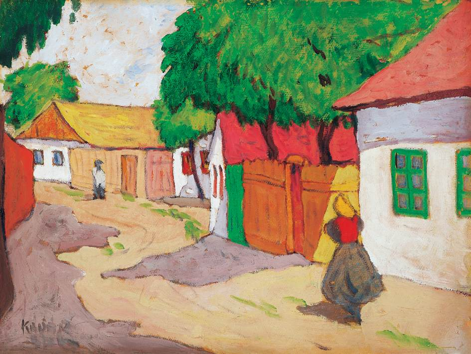 Village Street | Bela Kadar | oil painting