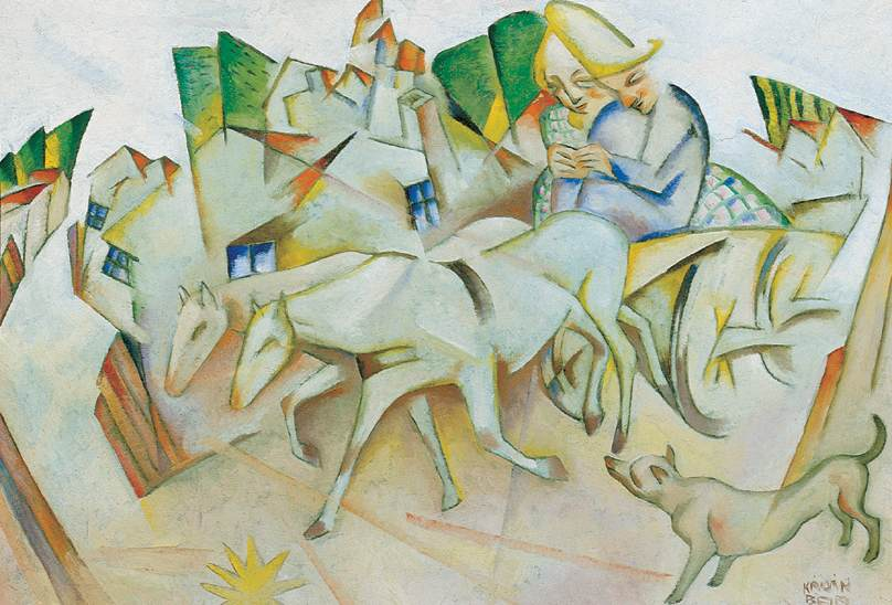 Selling the Horse 1927 | Bela Kadar | oil painting
