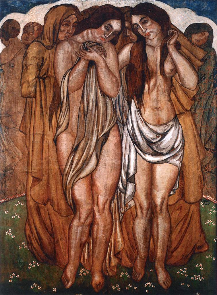 Nudes (Primavera) 1912 | Bela Kadar | oil painting