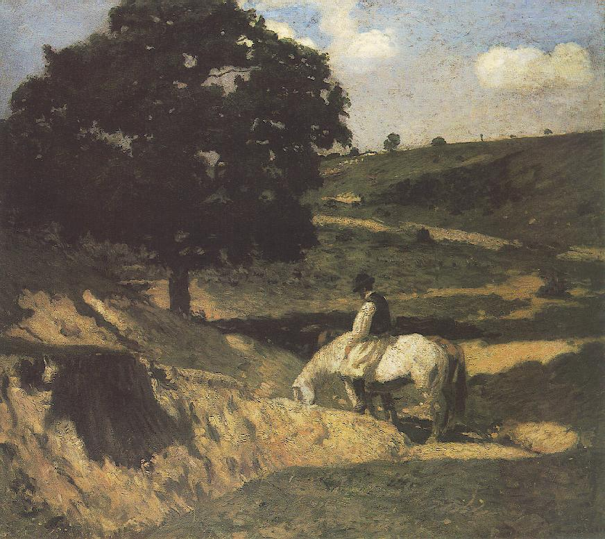 Watering 1902   Bela Grunwald Ivanyi   oil painting
