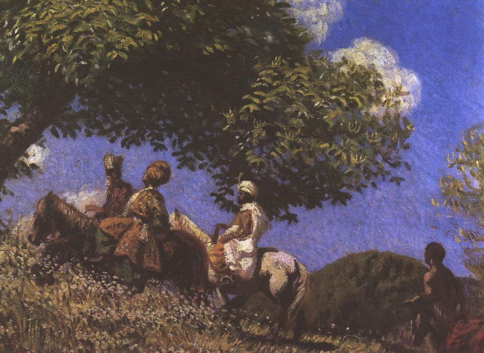 The Three Magi 1903   Bela Grunwald Ivanyi   oil painting