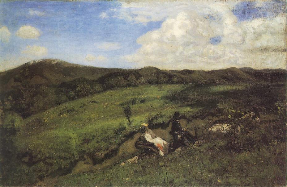 Spring Excursion 1903   Bela Grunwald Ivanyi   oil painting