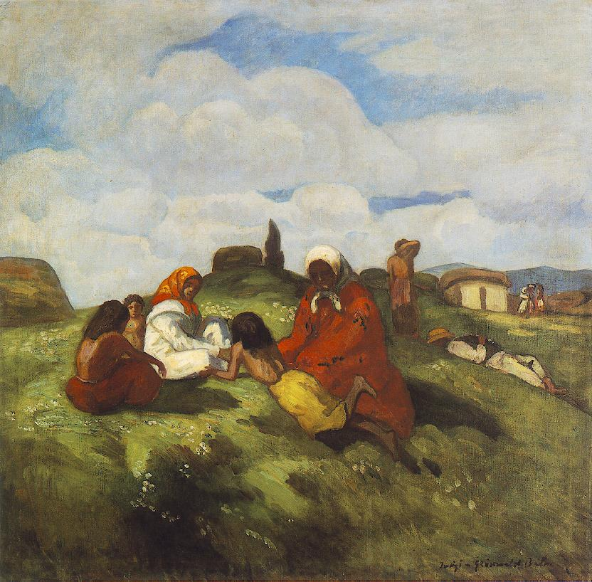 Gipsies on the Field 1905 | Bela Grunwald Ivanyi | oil painting