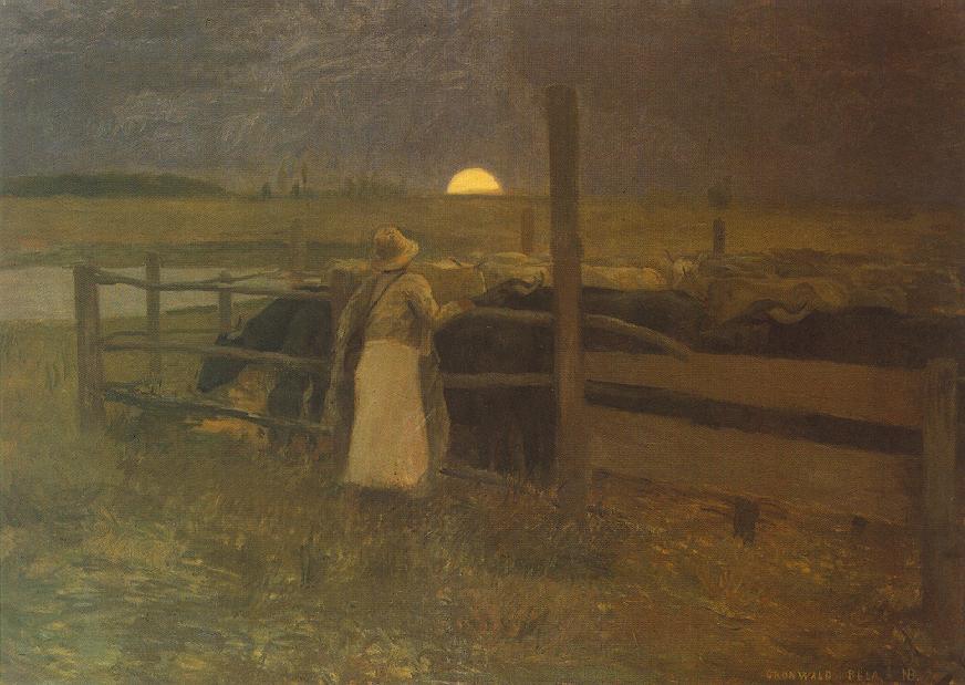 Moon Rise 1897   Bela Grunwald Ivanyi   oil painting