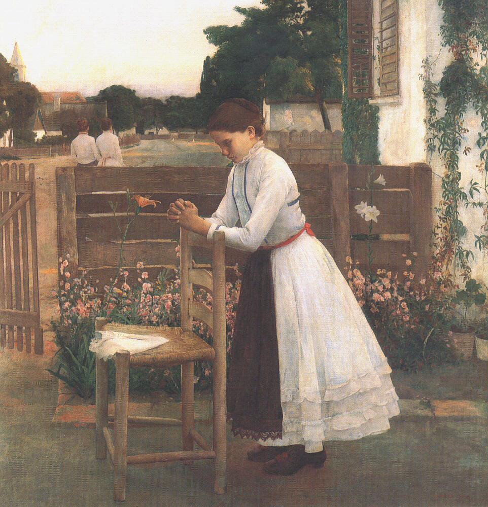Devotion (Ave Maria) 1891   Bela Grunwald Ivanyi   oil painting
