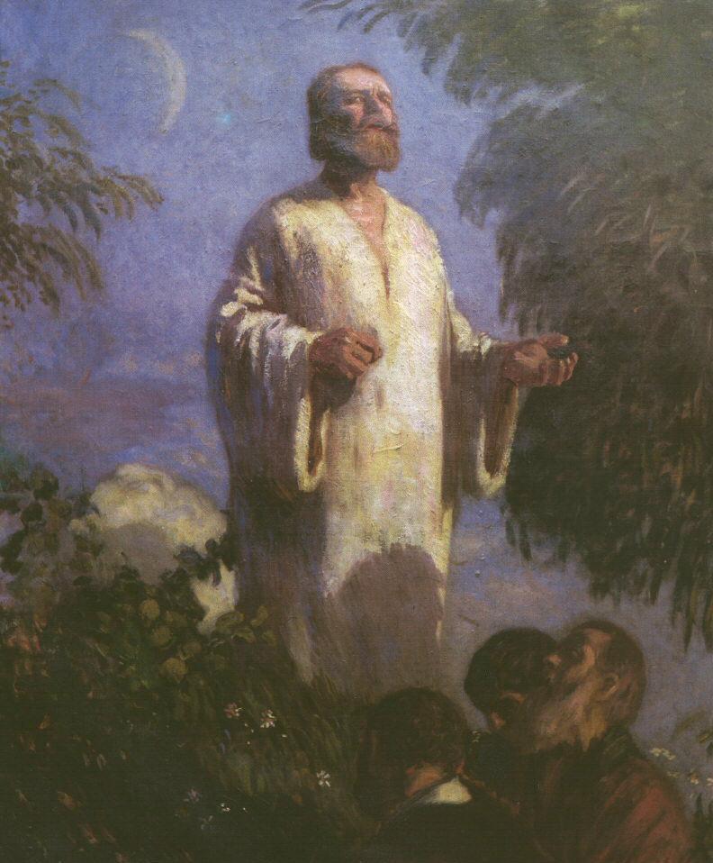 Christ in Garden Getsmane 1903   Bela Grunwald Ivanyi   oil painting