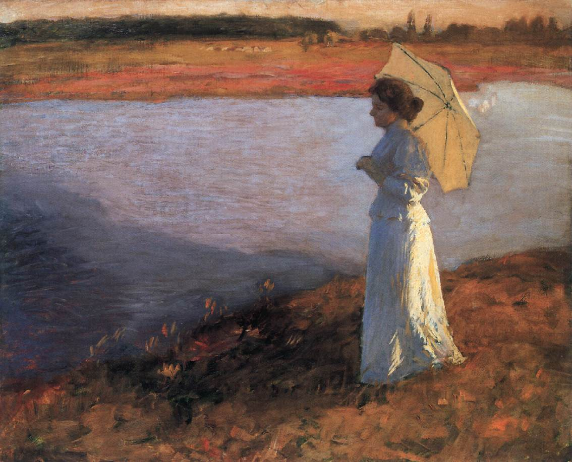 Woman by the Water 1897 | Bela Grunwald Ivanyi | oil painting