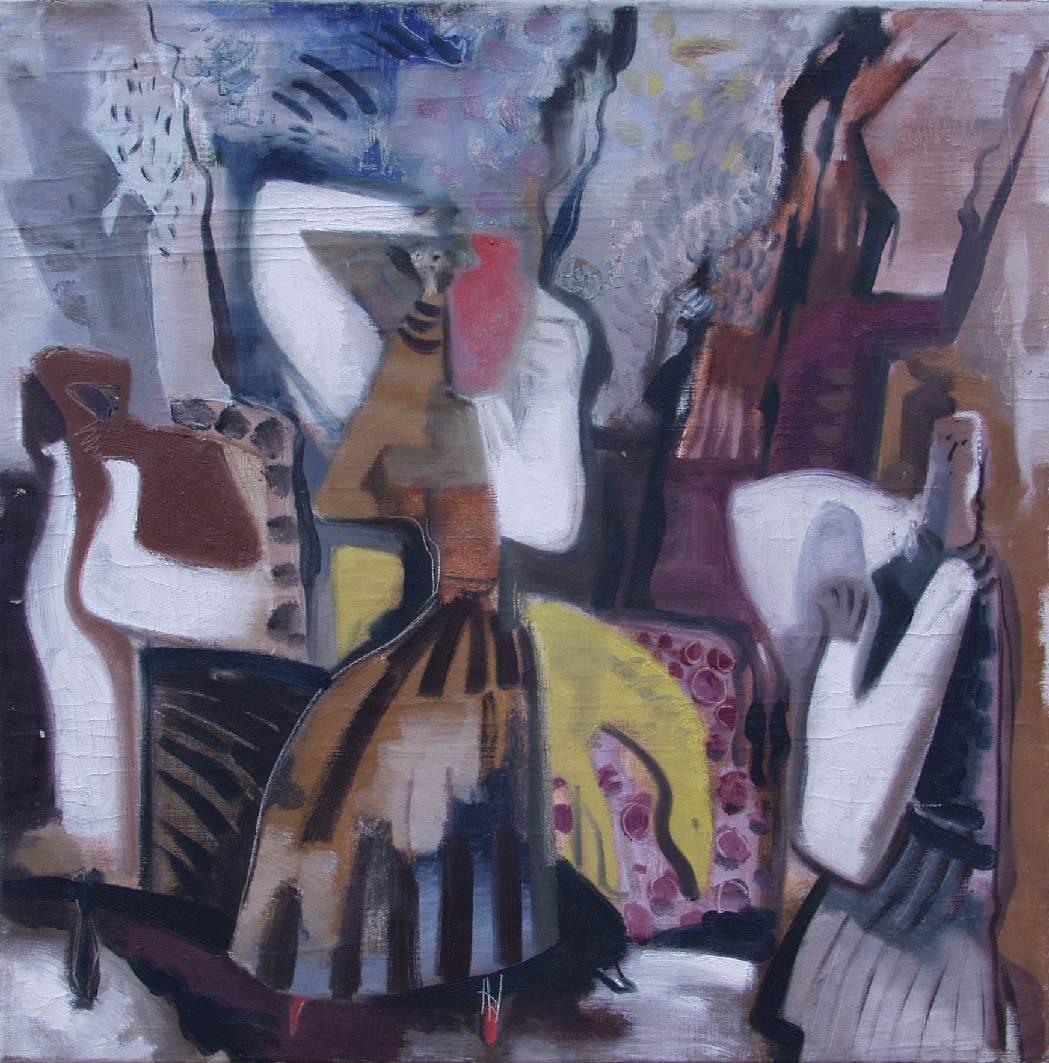Lamentation 1945 | Gyula Hincz | oil painting