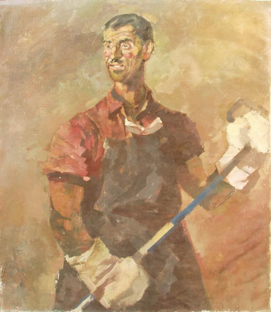 Furnaceman 1950 | Gyula Hincz | oil painting