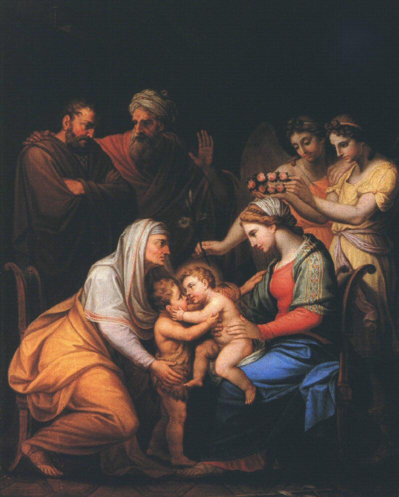 Holy Family with Saints 1813 | Mihaly Janos Hesz | oil painting