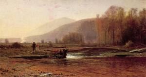 Dusk in the Foothills 1870 | Jervis McEntee | oil painting