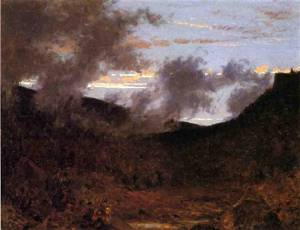 Mist Rising near New Paltz 1861 | Jervis McEntee | oil painting