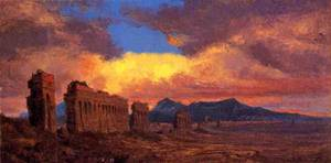 Roman Aqueduct 1875 | Jervis McEntee | oil painting