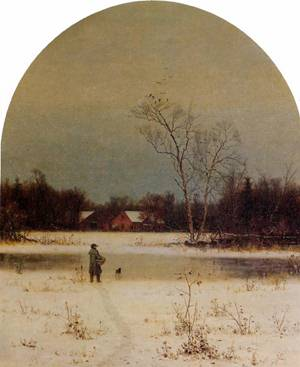 The Frozen Pond | Jervis McEntee | oil painting