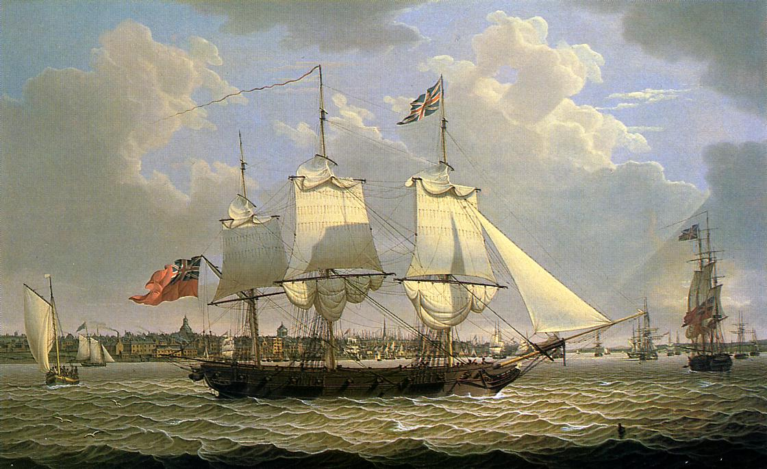 A Mail Packet with Other Shipping off Liverpool 1809 | Robert Salmon | oil painting