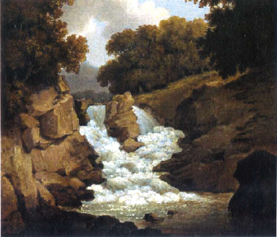A Waterfall 1822 | Robert Salmon | oil painting