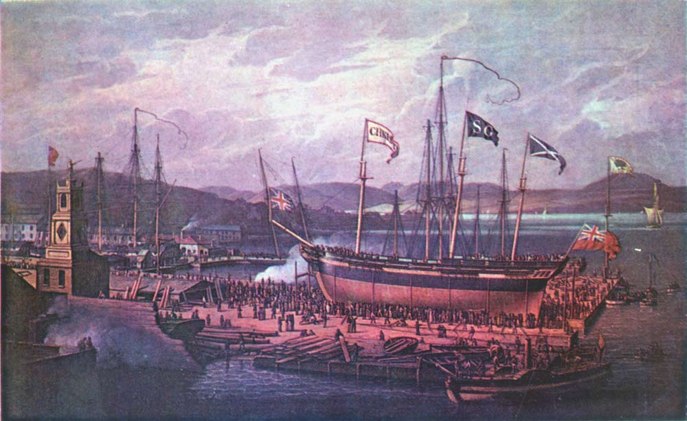 Launch of the S.S. Christian 1815 | Robert Salmon | oil painting
