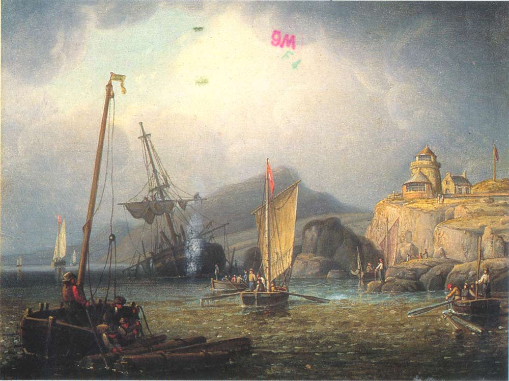Salvors Working a Wreck | Robert Salmon | oil painting