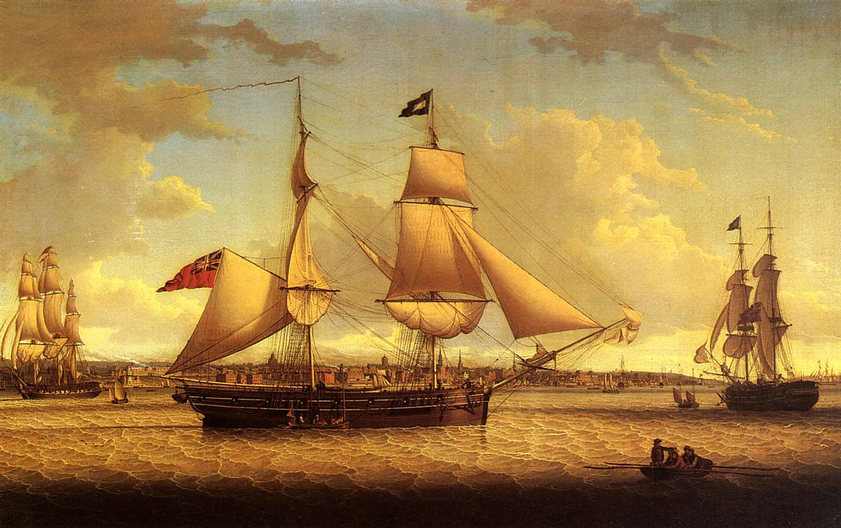 Ship off Liverpool 1811 | Robert Salmon | oil painting