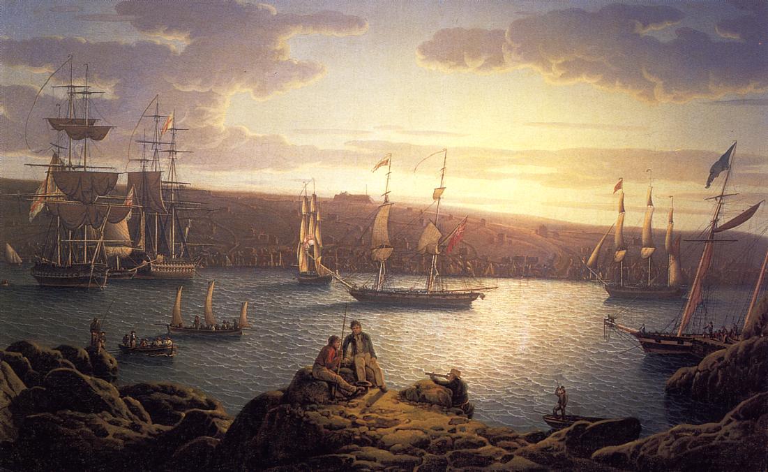 Royal Naval Vessels off Pembroke Dock, Milford Haven 1839