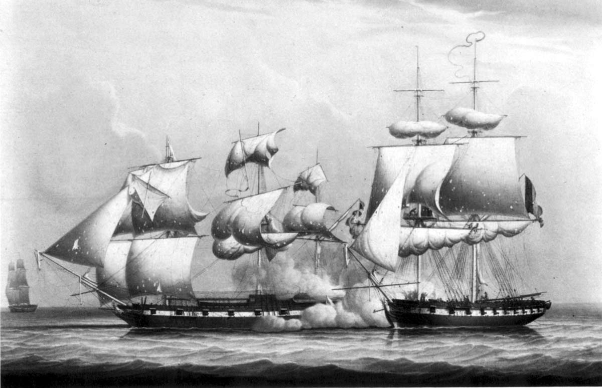 Action Between the Will of Liverpool and a French Privateer, February 21, 1804 1823