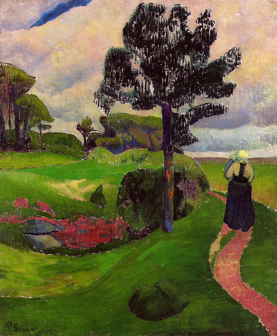 Mother and Child on a Breton Landscape 1890 | Paul Serusier | oil painting