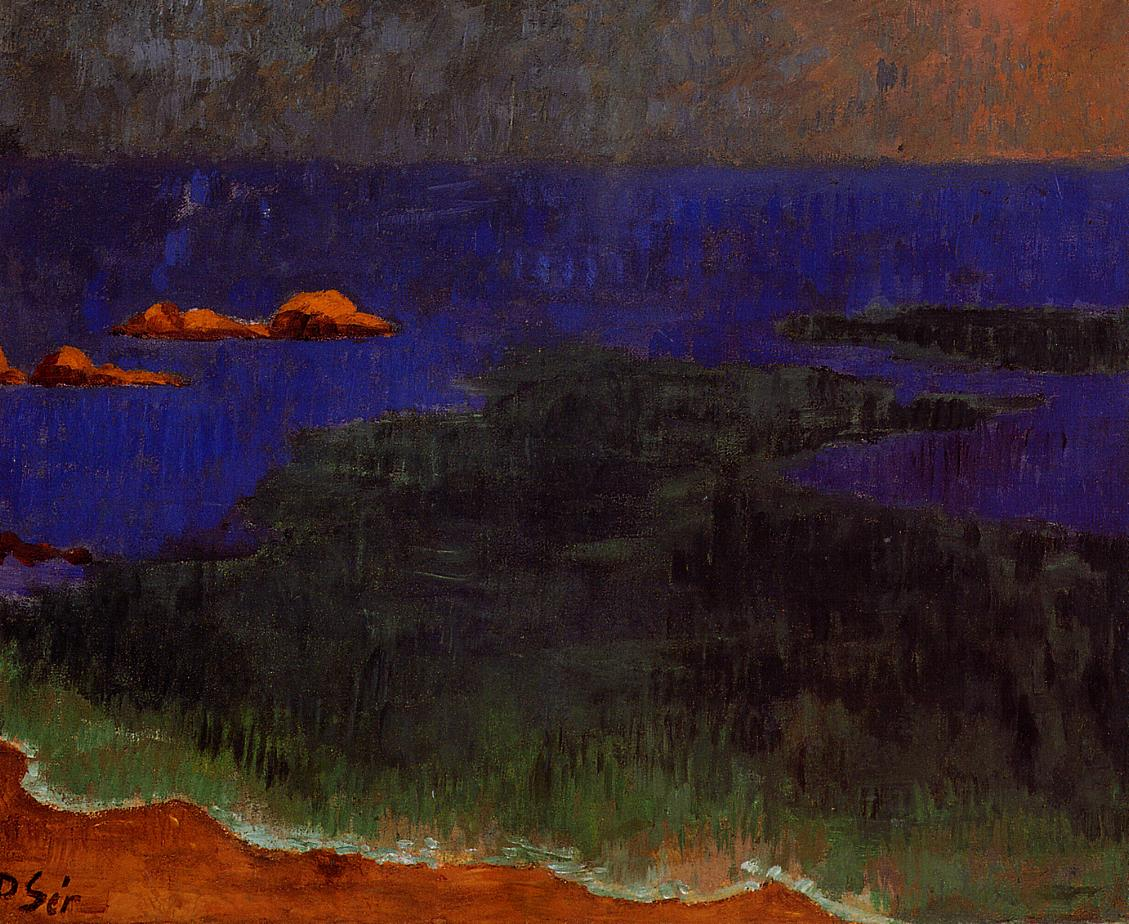 The Seat at Poldu Sunset 1889-1890 | Paul Serusier | oil painting