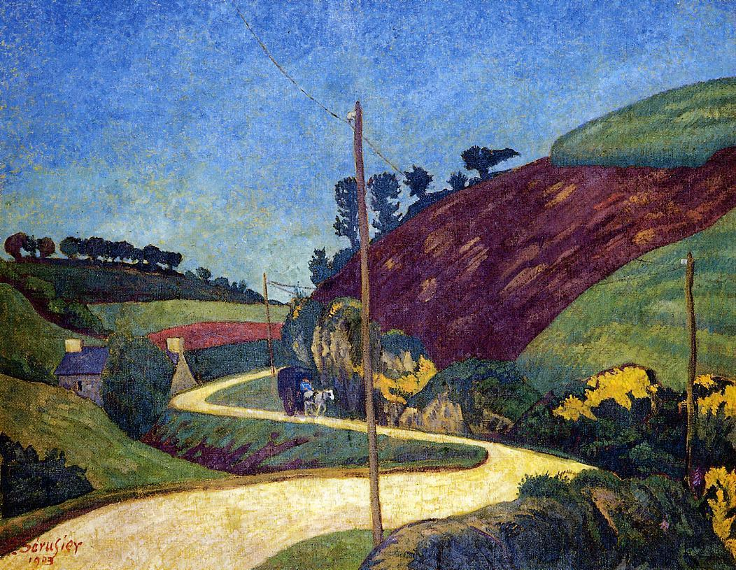 The Stagecoach Road in the Country with a Cart 1903 | Paul Serusier | oil painting