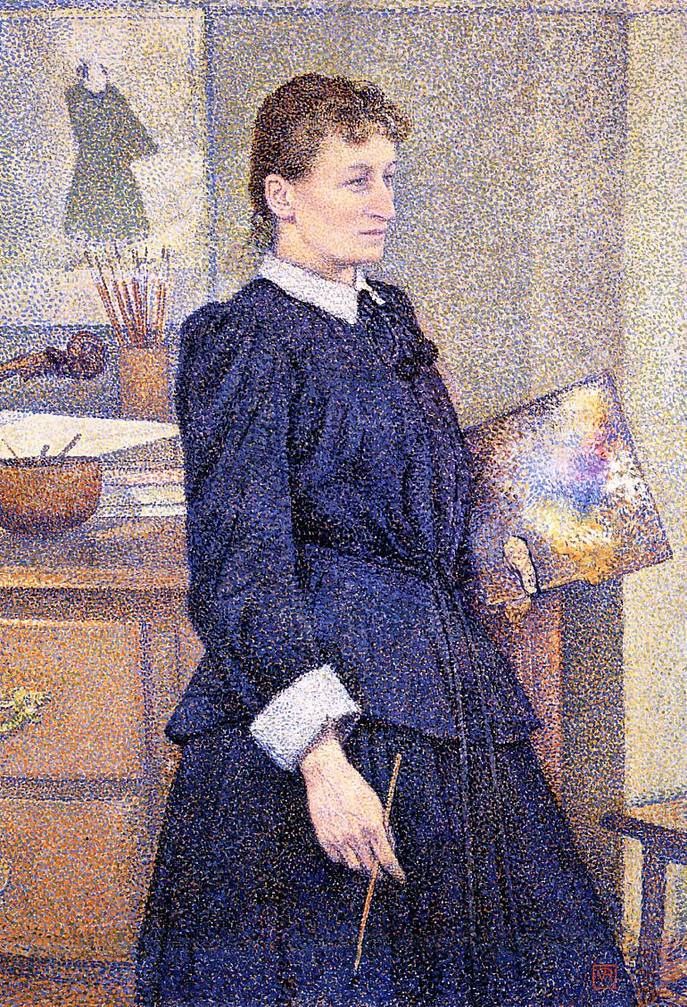 Anna Boch in Her Studio 1893 | Theo Van Rysselberghe | oil painting