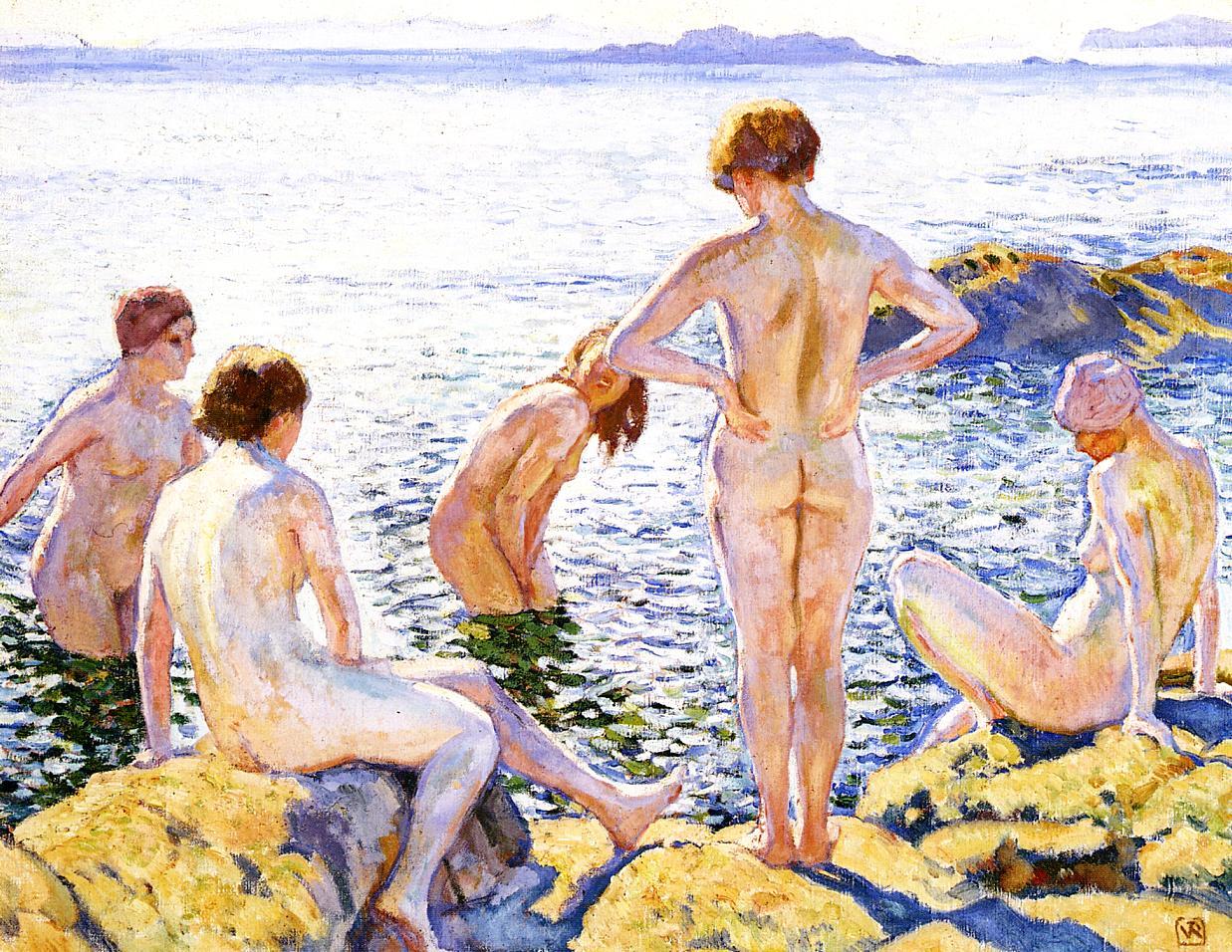 Bathers 1920 | Theo Van Rysselberghe | oil painting