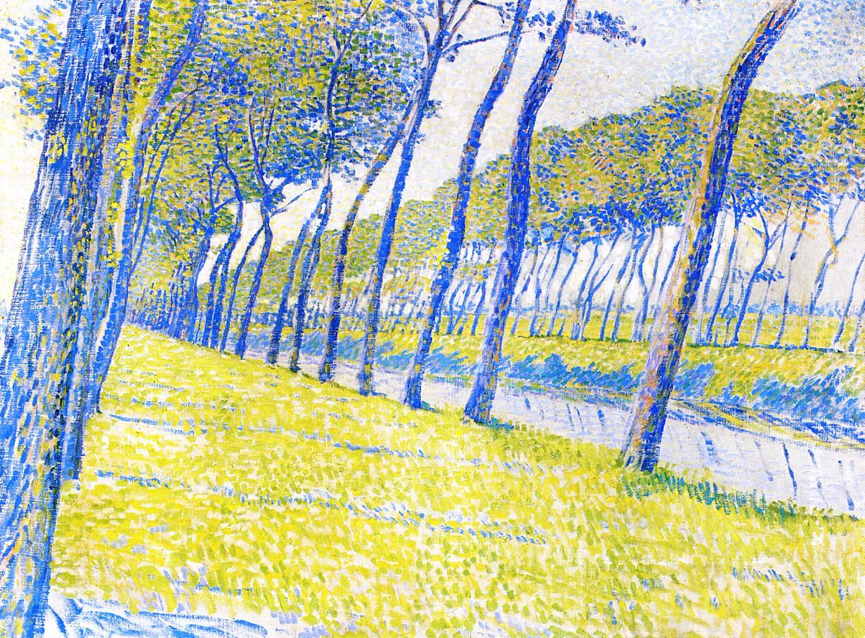 Canal in Flanders 1894 1 | Theo Van Rysselberghe | oil painting